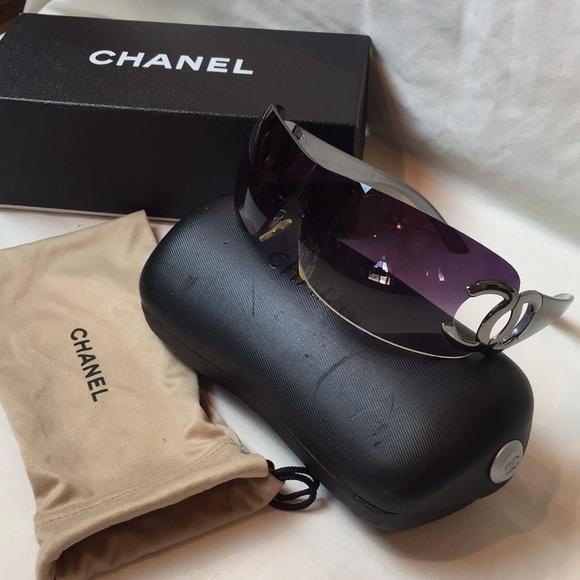 Chanel Classic Shield Gradient Sunglasses 4125